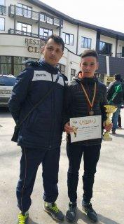 Gabriel Chiran a urcat pe podium la finala Campionatului Naţional de Cros pentru Juniori 1 şi 2 şi Copii 1, 2 şi 3